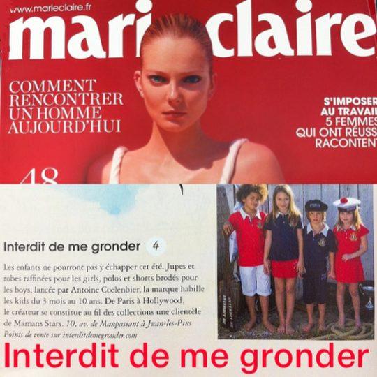 Photo Shooting Marie Claire - Brand interdit de me gronder